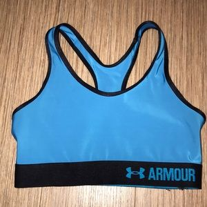 under armour blue unpadded sports bra size XS